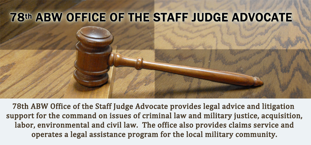 78th ABW OFFICE OF THE STAFF JUDGE ADVOCATE